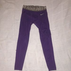 LSU football game day compression pants